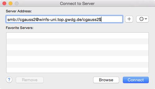 Access to GWDG Fileservers [GWDG /docs]