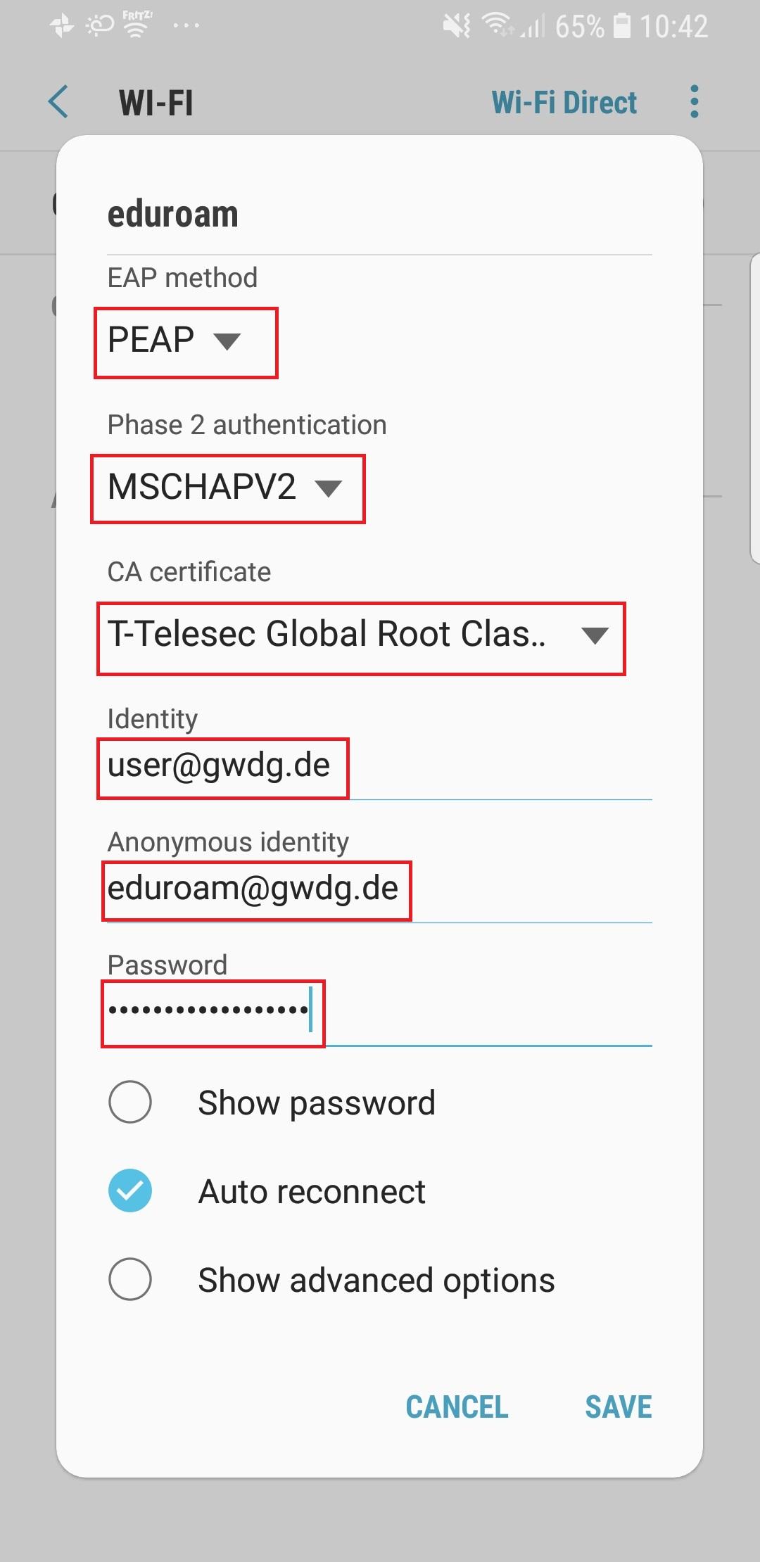 eduroam mit Android (4 4 4+) [GWDG /docs]