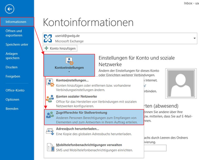 Stellvertreter In Outlook Einrichten Gwdg Docs