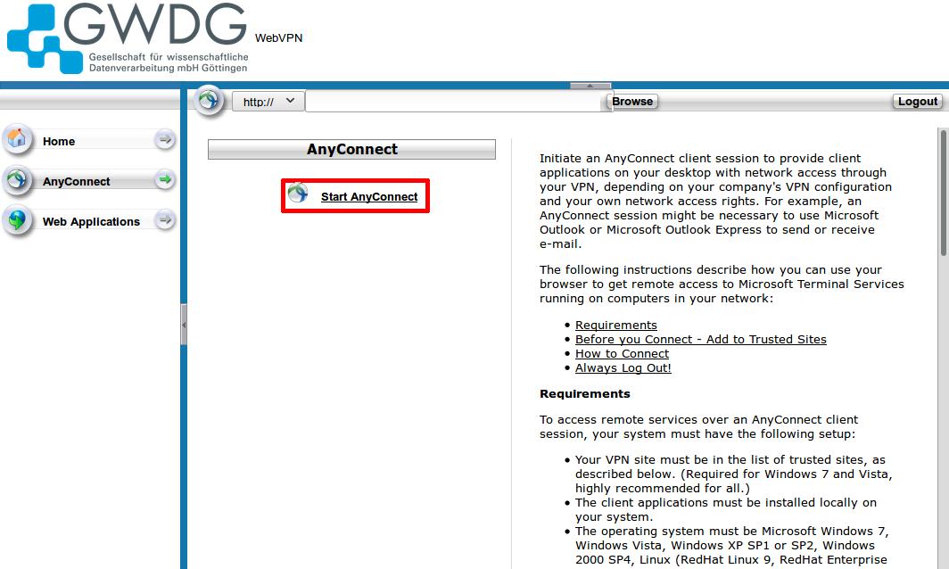 Cisco AnyConnect [GWDG /docs]